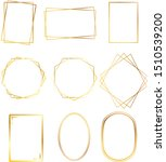 set of golden vintage frames | Shutterstock .eps vector #1510539200