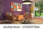 interior with chair. 3d... | Shutterstock . vector #1510547066