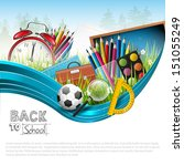 back to school   vector... | Shutterstock .eps vector #151055249