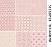 set of 9 seamless polka dot... | Shutterstock .eps vector #151055510