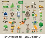mountain hiking and climbing... | Shutterstock .eps vector #151055840