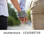 rear view of couple's hand tied ...   Shutterstock . vector #1510585739