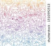 children theatre patterns....   Shutterstock .eps vector #1510592513