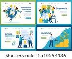 set flat 2d concepts teamwork ... | Shutterstock .eps vector #1510594136