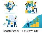 set flat 2d concepts teamwork ... | Shutterstock .eps vector #1510594139