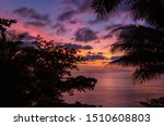 Sunset In Purple  Pink And...