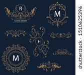 ornamental gold elements... | Shutterstock .eps vector #1510625396