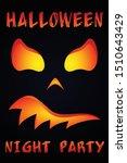 scary pumpkin poster for... | Shutterstock .eps vector #1510643429