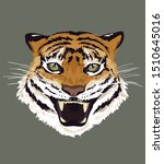 tiger head with open mouth... | Shutterstock .eps vector #1510645016