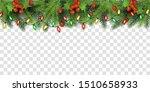 christmas tree top border... | Shutterstock .eps vector #1510658933