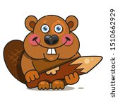 beaver in flat style. symbol ...   Shutterstock .eps vector #1510662929