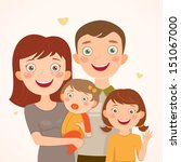 family with daughters. happy... | Shutterstock .eps vector #151067000