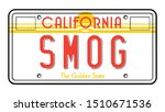 vintage california license... | Shutterstock .eps vector #1510671536