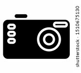 camera icon with glyph style.... | Shutterstock .eps vector #1510675130
