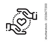 heart icon with hands on white... | Shutterstock .eps vector #1510677203