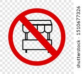 vector sign  do not selling... | Shutterstock .eps vector #1510677326
