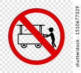 vector sign  do not selling... | Shutterstock .eps vector #1510677329