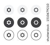 set of 3 simple design gear... | Shutterstock .eps vector #1510679210