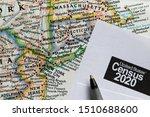 Closeup of united states census ...