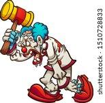 cartoon zombie clown walking... | Shutterstock .eps vector #1510728833