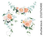 3 beautiful bouquets with... | Shutterstock .eps vector #1510765400
