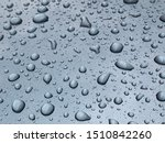 water drop on grey backgoround. | Shutterstock . vector #1510842260