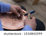 the man making pattern on the... | Shutterstock . vector #1510842599