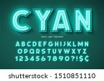 neon light 3d alphabet  extra...   Shutterstock .eps vector #1510851110