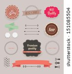 vector illustration. collection ... | Shutterstock .eps vector #151085504