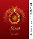 illustration of burning diya on ... | Shutterstock .eps vector #1510888193