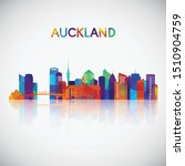 auckland skyline silhouette in...   Shutterstock .eps vector #1510904759