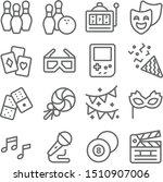 party entertainment vector line ... | Shutterstock .eps vector #1510907006