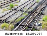 abstract rail train in thailand | Shutterstock . vector #151091084