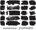 set of black brush strokes with ... | Shutterstock .eps vector #1510932893