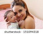portrait of a beautiful... | Shutterstock . vector #151094318