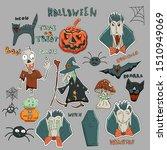 cute vector halloween patches... | Shutterstock .eps vector #1510949069