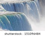 close up of water rushing over... | Shutterstock . vector #151096484