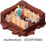 vector isometric house... | Shutterstock .eps vector #1510970060