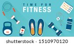 fitness concept workout with... | Shutterstock .eps vector #1510970120