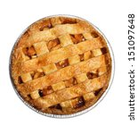 Apple Pie Isolated On White  ...