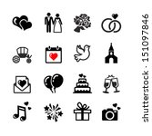 web icons set. wedding  bride... | Shutterstock .eps vector #151097846