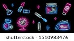set of neon cosmetics icons on... | Shutterstock .eps vector #1510983476