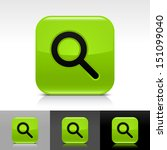 magnifying glass icon green...