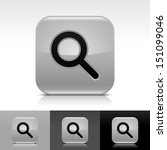 magnifying glass icon gray...