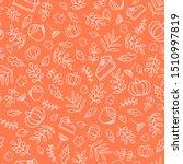 autumn seamless pattern.... | Shutterstock .eps vector #1510997819