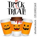 paper coffee cups cartoon... | Shutterstock .eps vector #1511002163