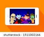 halloween cartoon character set.... | Shutterstock .eps vector #1511002166