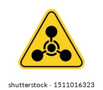 isolated warning chemical... | Shutterstock .eps vector #1511016323