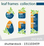 vector leaf frames collection... | Shutterstock .eps vector #151103459