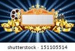 banner on starry background ... | Shutterstock .eps vector #151105514